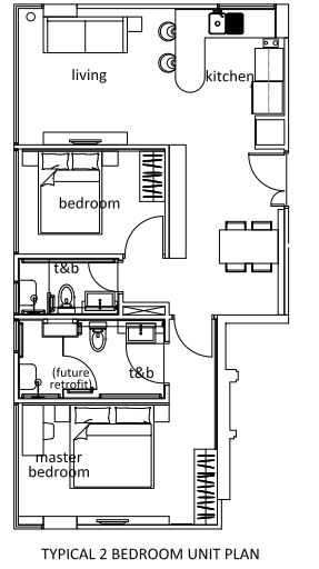 Thanksgiving Serviced Residence Floor Plan